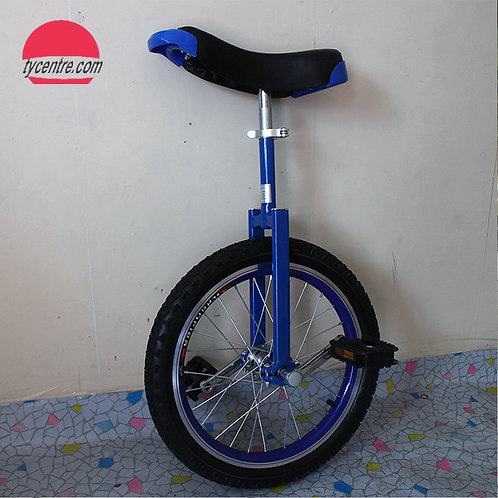 """UC-18 series, 18"""" Shoulder C unicycle with different rims and tires."""