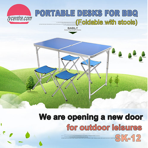 SK-12, Aluminum Fordable Table for BBQ Party Outdoor.