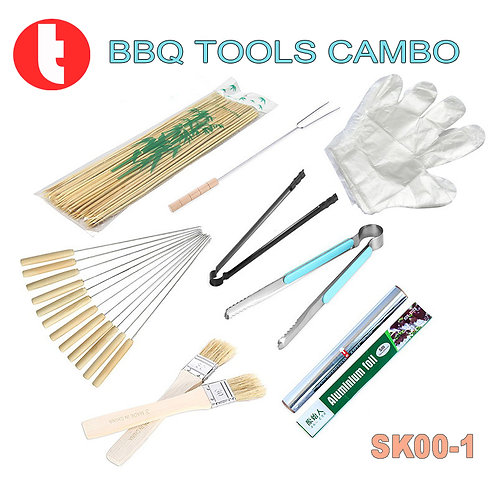 SK00-1, BBQ Tool Kits (8pcs) for Standard Use.