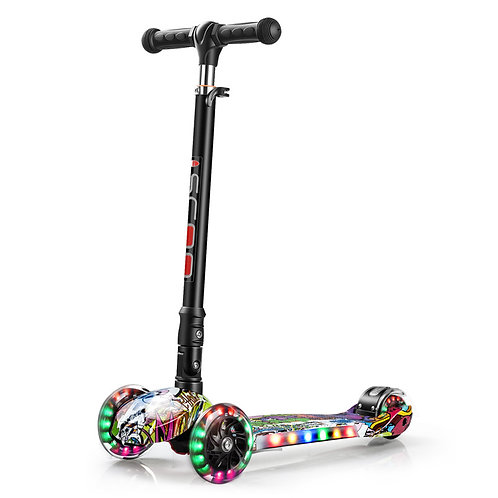 KS-006ZD-F, Foldable kick scooter with lighting board and wheels