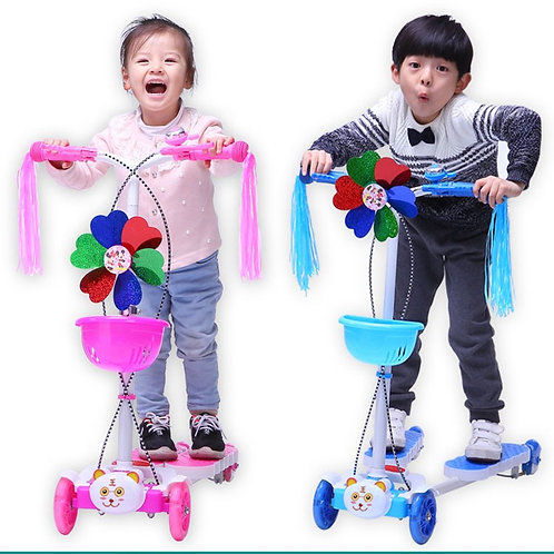 SS4150C-R-F, Swing Scooter with different color with lights