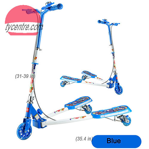 SS8175MMC-YYSG-W2-F, Steel 3 wheeled Kids Scooters with music