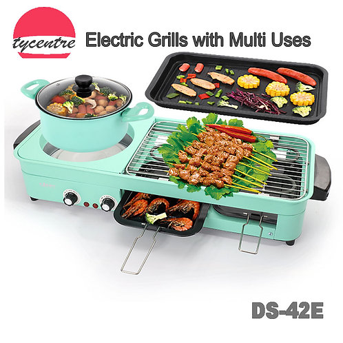DS-42E,Multiple Use Electric Grill with Independent Heat.
