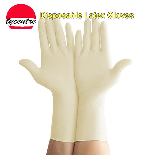 LS-06, Powder Free Disposable Latex Protective Gloves.