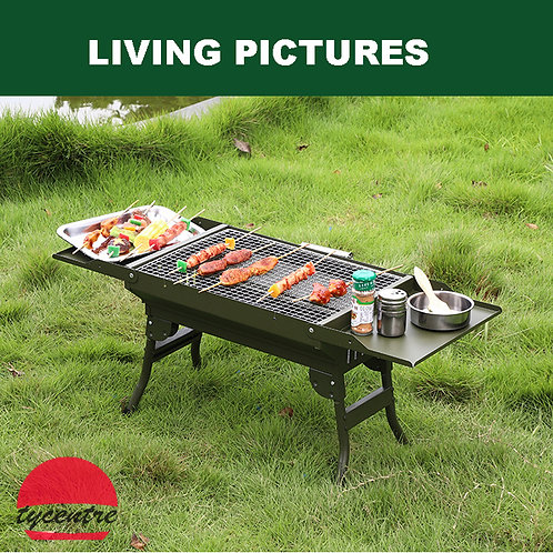 DS-15S, Small  Portable Charcoal BBQ in Case Design.