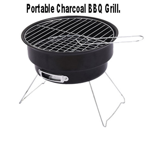 DS-25, Round Charcoal Grill Outdoor BBQ with or without Bag
