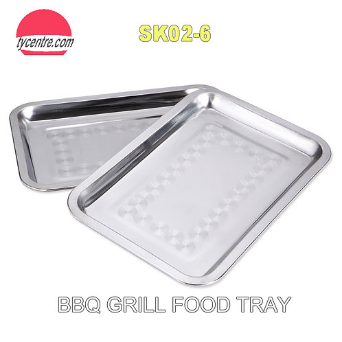 SK02-6, 22x32cm Wholesale Stainless Steel Food Tray