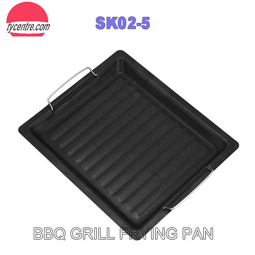 SK02-5, 25x30cm Wholesale Non-stick Coated BBQ Frying Pan
