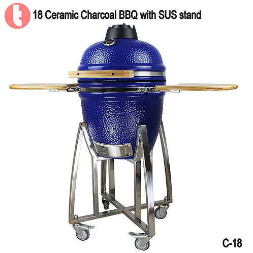 "C-18,  18 "" SUS Cart Stand  Ceramic Charcoal Kamado BBQ Grill"