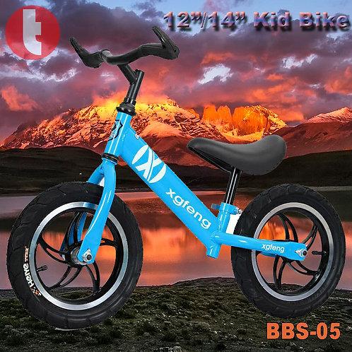 "BBS-05, 12""/14"" Steel Foot Slide Bikes with Horn Grips"