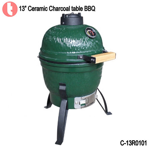 C-13R0101,  13 Inches Ceramic Charcoal BBQ Smoker