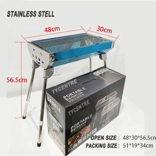 DS-02, 48cm Foldable Stainless Steel BBQ Grills.