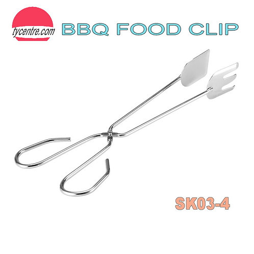 SK03-4, Chromized Steel Food BBQ Clips Coal Picker