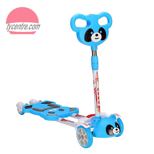 SS4151, 4 wheels frog kick scooters for kids in Panda design.