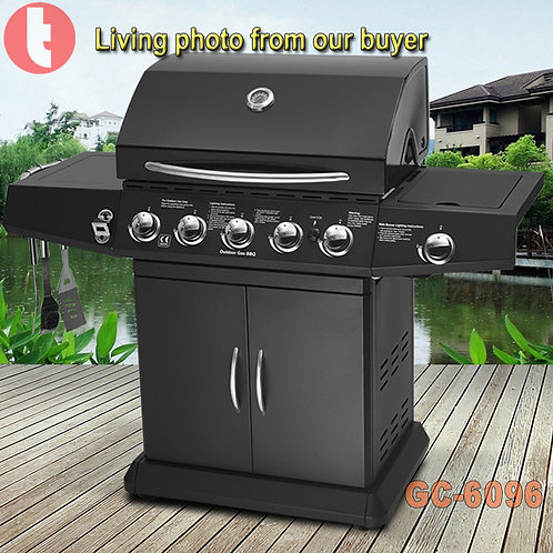 GC-6096,2-in-1 Steel Gas BBQ Griller available with CharcoalPot