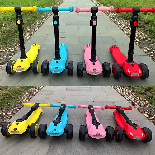 KS-002CX-YY-DD, Foldable Kick Scooter with lights and music