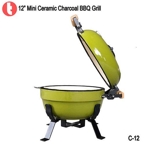 C-12  12inches  Mini Ceramic Charcoal Smoker