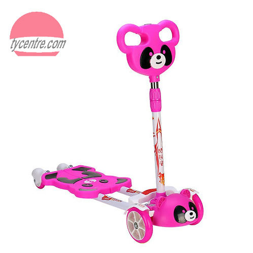 SS4151-F, flash wheels kick scooters in Panda design.
