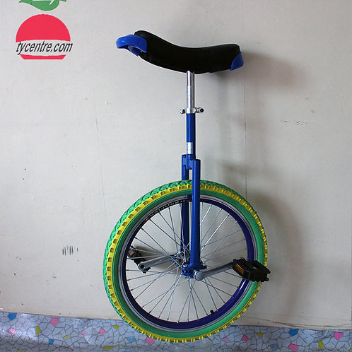 UB-16CAB, shoulder B unicycle bikes with  color tire and alu rim.