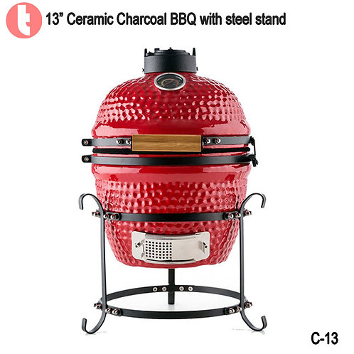 C-13,  13 Inches Ceramic Charcoal BBQ Smoker