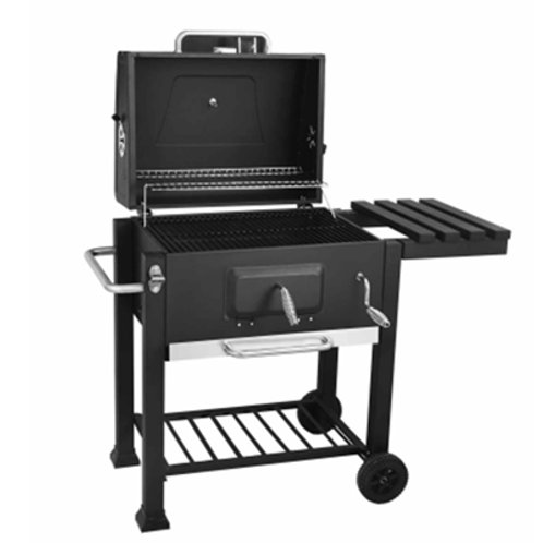 DS-34, Roll-Away Big Square Charcoal BBQ Grill