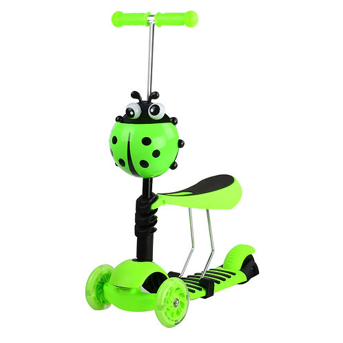 KS-007SHY, 3-IN-1 Kick scooter, great green