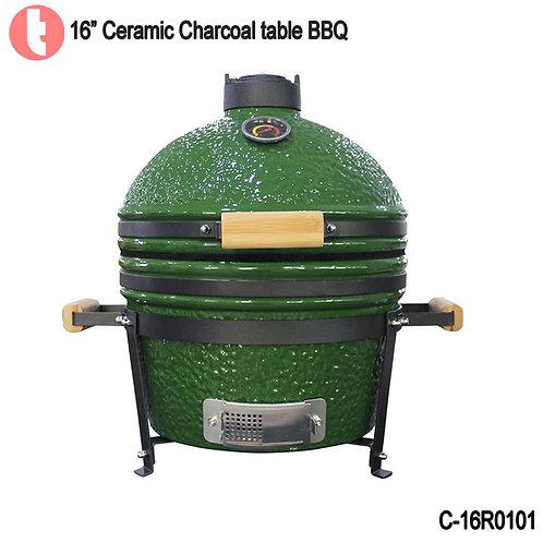 C-16R0101,  16 Inches Ceramic Charcoal BBQ  Kamado Smoker