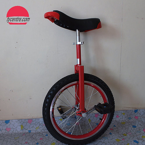 UC-20 series, 20 inches Fork 'C' Unicycle with different rims and tires.