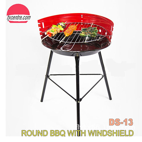 DS-13, 36x56cm, Round Barbecue Windproof Charcoal Grill