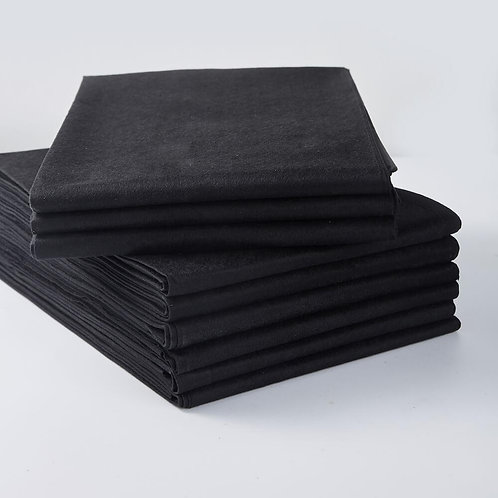 Spa Towel Black Smooth 140 x 80 cm