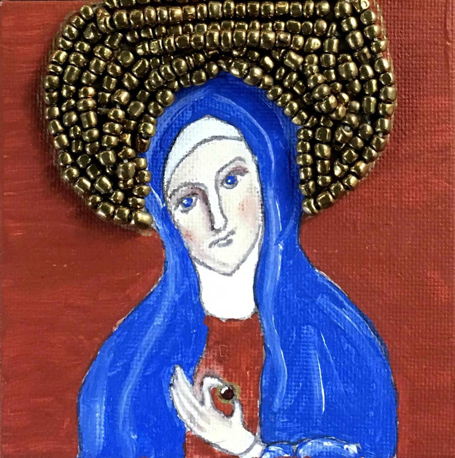 St. Julian of Norwich with Hazelnut