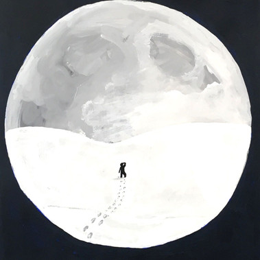 Moon When Eyes Are Sore From Bright Snow