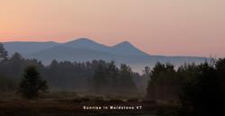 Sunrise in Maidstone VT
