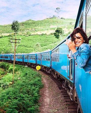 Mädchen auf Zug