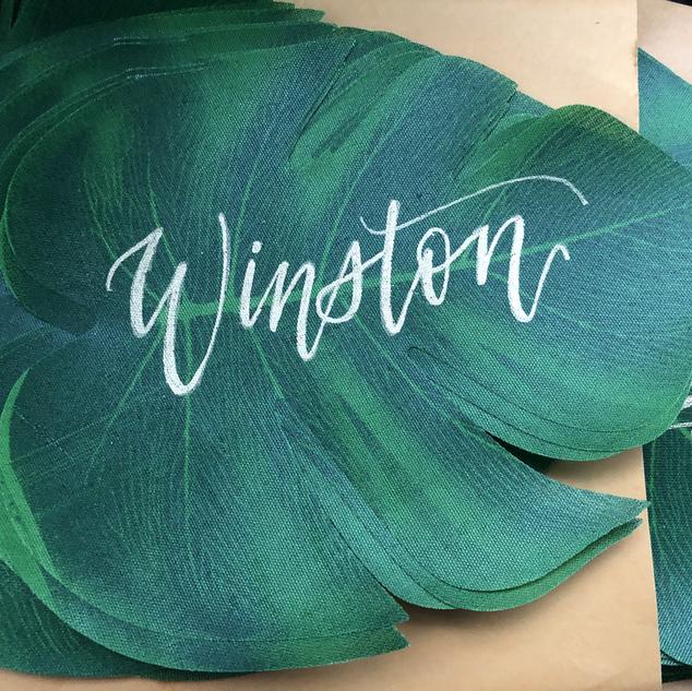 Placecard Tropical Leaf