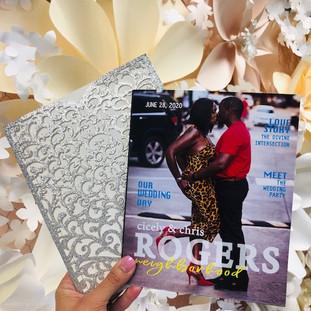 magazine wedding program