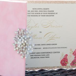 Pink Velvet Folio Invitation