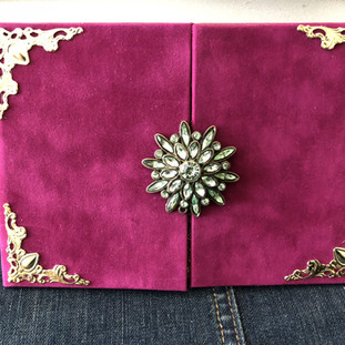 Fuchsia Folio Invitation