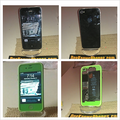 Iphone 4 or 4s Green Color Change