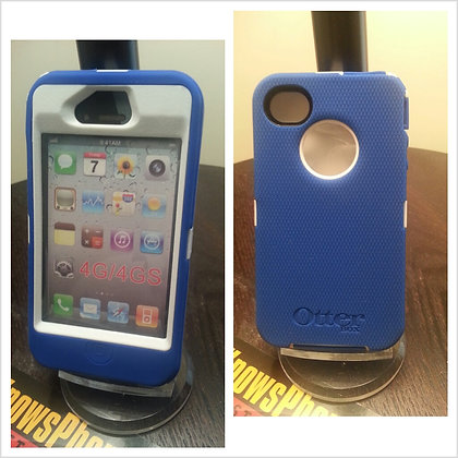 Iphone 4 & 4s Otter Box Defender (blue & white)