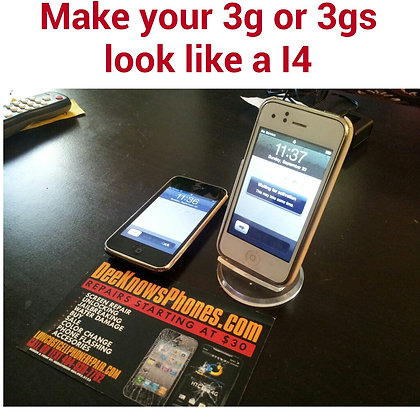 Make your 3g & 3gs look like a 4