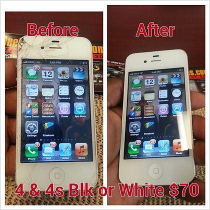 Iphone 4 & 4s Screen Repair (blk & White only)