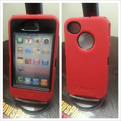 Iphone 4 & 4s Otter Box Defender (Red)