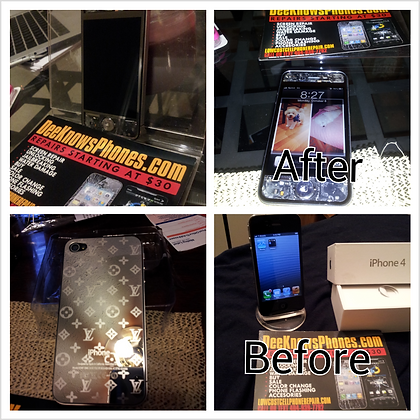 Transparent & Chrome with Lv back Iphone 4 or 4s