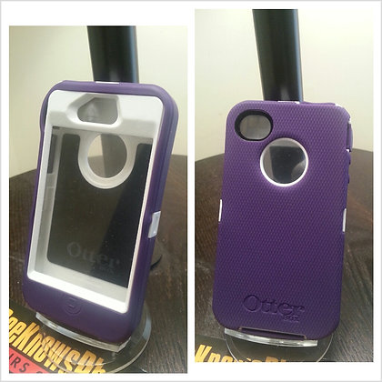 Iphone 4 & 4s Otter Box Defender (Purple & White)