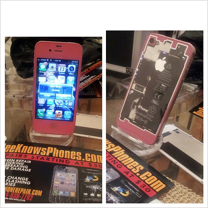 Pink Iphone 4 or 4s Color Change