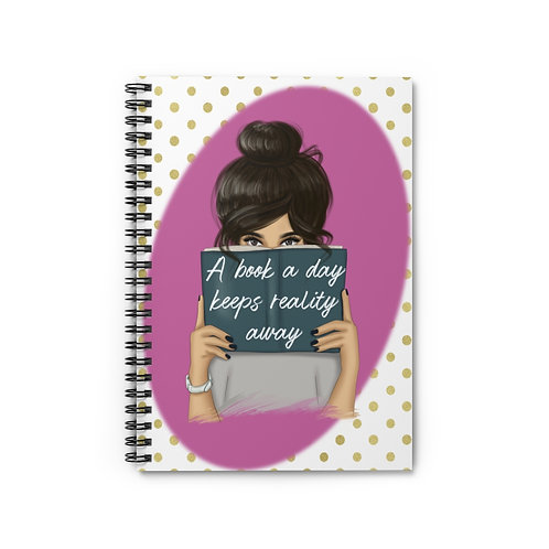 A book a day Spiral Notebook