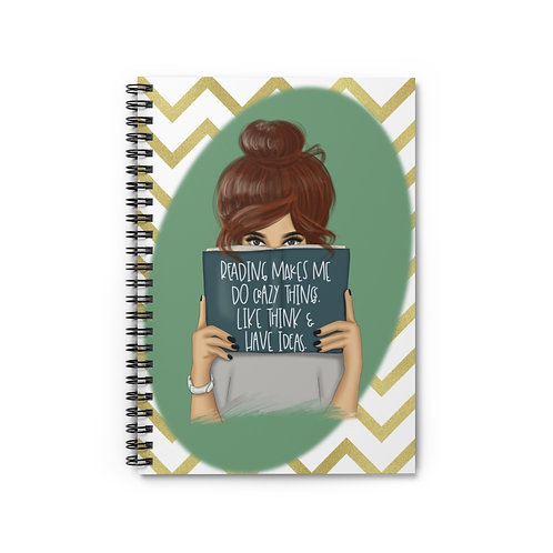 Reading makes me crazy Spiral Notebook