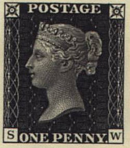 Queen Victoria on Penny Stamp