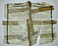 Adhesive damaged document